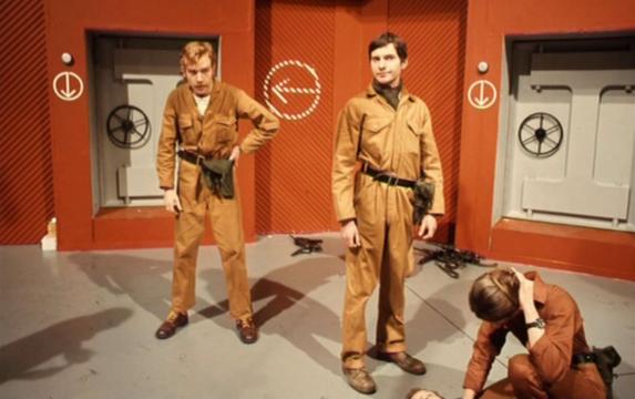 Soldiers in underground bunker
