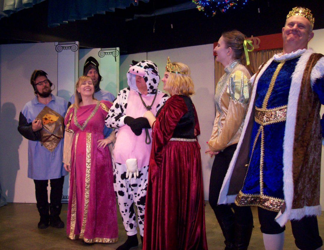 Panto cast take a bow