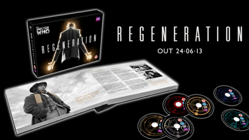 Regeneration book open and six DVD discs next to it