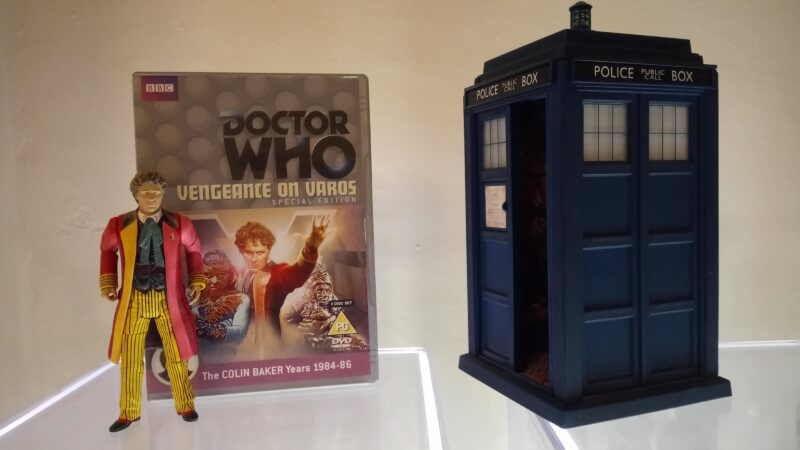 Sixth Doctor action figure, with DVD