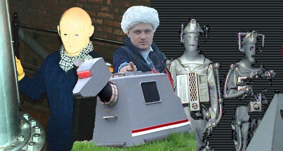 Auton, K9, cosplay Doctor, Cybermen