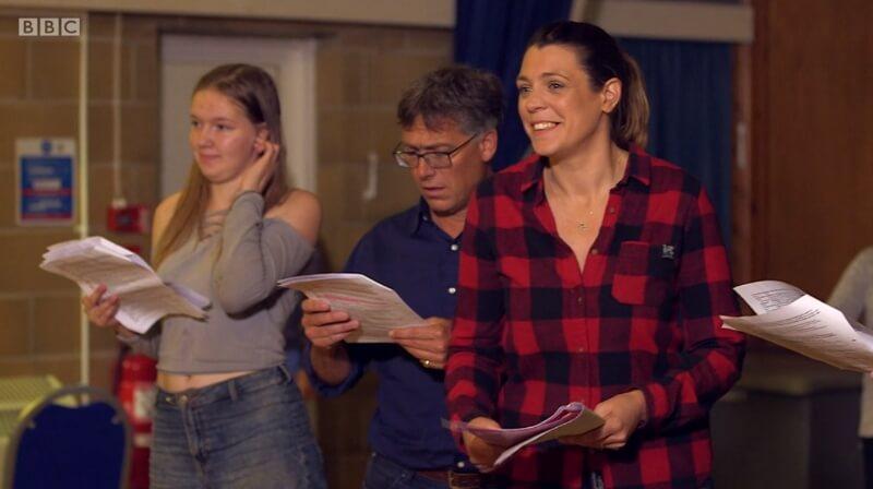 Cast rehearsing
